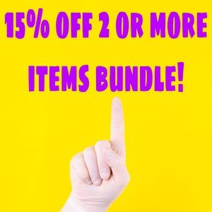15% off 2 items or more bundle!
